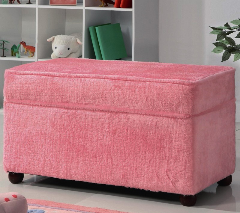 Brilliant Storage Bench In Fuzzy Pink Fabric By Coaster 460451 Unemploymentrelief Wooden Chair Designs For Living Room Unemploymentrelieforg