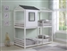 Belton Twin Twin House Bunk Bed in White and Grey Finish by Coaster - 461161