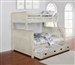Montrose Twin Full Bunk Bed in Antique White Finish by Coaster - 461252