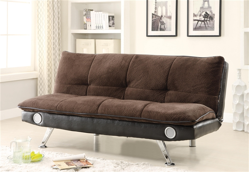 Brown Built Bluetooth By Futon Bed Sofa With 500047 In Coaster Speaker 08yvnwOPNm