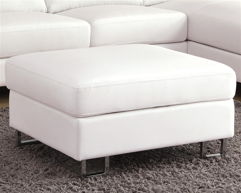 Fabulous Avila White Bonded Leather Sectional By Coaster 500048 Creativecarmelina Interior Chair Design Creativecarmelinacom