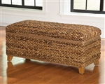 Laughton Woven Banana Leaf Bench by Coaster - 500215