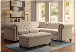 Roy Sectional in Oatmeal Fabric by Coaster - 500222