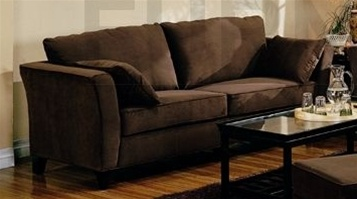 Park Place Brown Velvet Sofa By Coaster 500231cho