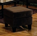 Park Place Brown Velvet Ottoman by Coaster - 500234CHO