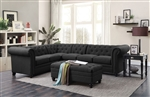 Roy Sectional in Grey Linen Upholstery by Coaster - 500292
