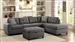 Stonenesse Sectional in Grey Upholstery by Coaster - 500413
