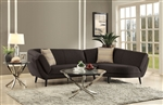 Norwood Sectional in Cocoa Bean Chenille Upholstery by Coaster - 500463