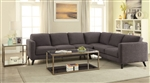 Azalea Sectional in Cocoa Bean Chenille Upholstery by Coaster - 500549