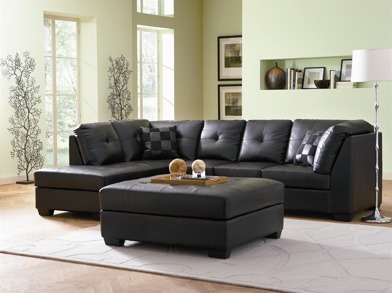 Strange Darie Black Leather Sectional By Coaster 500606 Gmtry Best Dining Table And Chair Ideas Images Gmtryco
