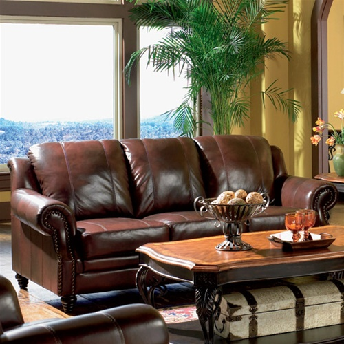 Princeton Leather Sofa By Coaster 500661