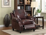 Princeton Leather Chair by Coaster - 500663