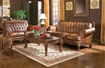 Victoria Living Room Set in Tri Tone Leather by Coaster - 500681-S