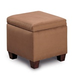 Accent Microfiber Cube Ottoman by Coaster - 500900