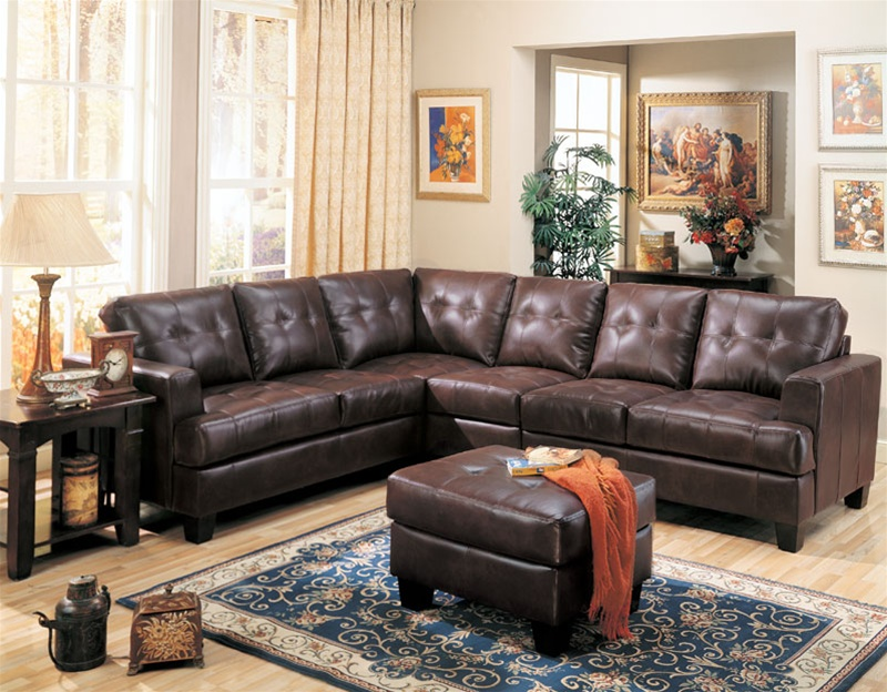 Merveilleux Samuel 4 Piece Dark Brown Bonded Leather Sectional Sofa By Coaster    500911S Larger Photo Email A Friend