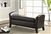 Dark Brown Vinyl Storage Bench by Coaster - 500951