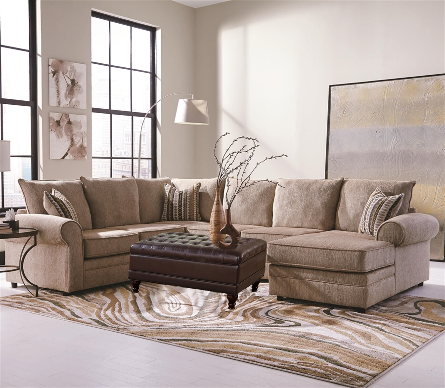 Westwood 3 Piece Chenille Sectional By Coaster 501001