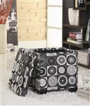 Rotundity Pattern Storage Ottoman by Coaster - 501081
