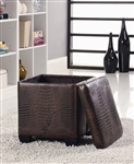 Crocodile Pattern Storage Ottoman by Coaster - 501082