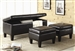Dark Brown Vinyl 3 Piece Bench Set by Coaster - 501085