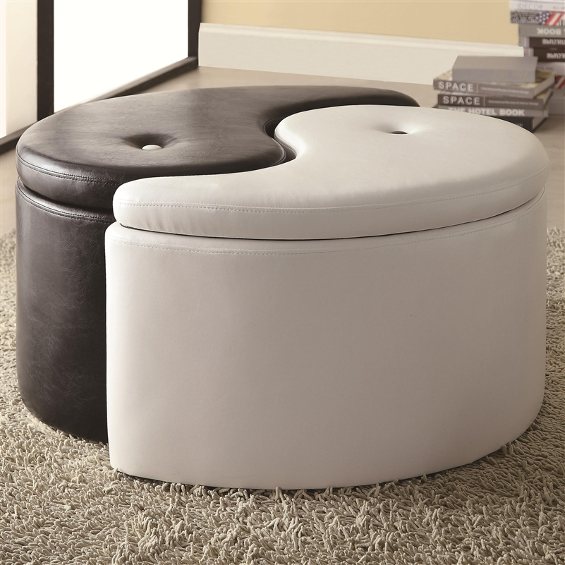 Prime Ying Yang Black White Storage Ottoman By Coaster 501104 Ibusinesslaw Wood Chair Design Ideas Ibusinesslaworg