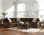 Robion Sectional in Chocolate Velvet Upholstery by Coaster - 501147