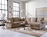 Fairhaven Sectional in Cream Herringbone Chenille Upholstery by Coaster - 501149