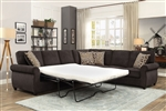 Kendrick Sectional Sleeper in Chocolate Chenille Upholstery by Coaster - 501450