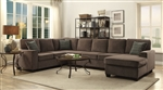 Provence Sectional in Brown Chenille Upholstery by Coaster - 501686
