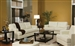 Samuel 2 Piece Cream Leatherette Living Room Set by Coaster - 501691SL