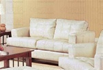 Samuel 100% Cream Bonded Leather Loveseat by Coaster - 501692
