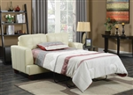Samuel Loveseat Sleeper in Cream Leatherette by Coaster - 501699