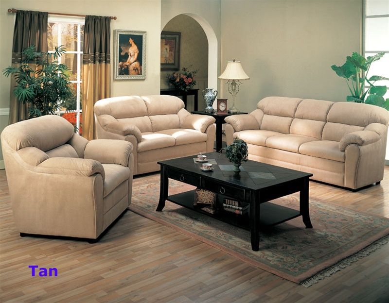 Taylor 2 Piece Sofa Set In Mocha Microfiber/Dark Brown Faux Leather Cover  By Coaster   501881S