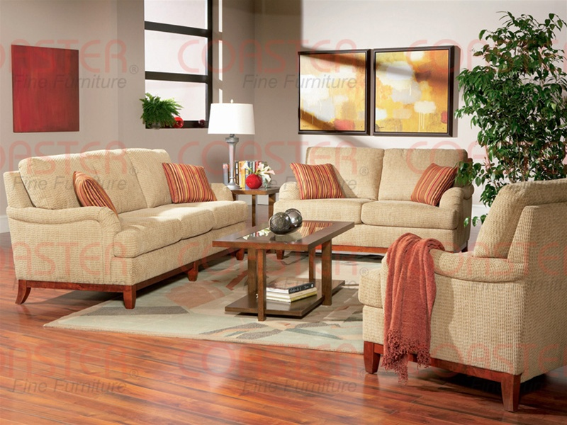Amorose 2 Piece Chenille Living Room Set by Coaster - 502481S