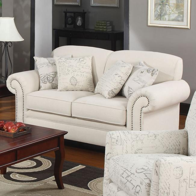 furniture loveseat grey fabric los sofa brindon ashley outlet a steal