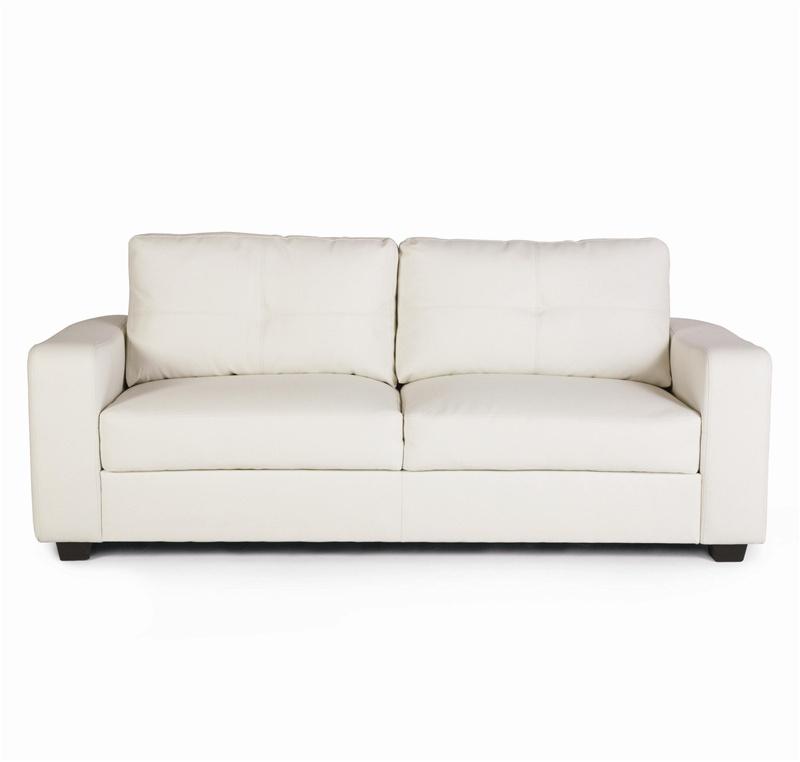Jasmine Vibrant White Leather Sofa By Coaster 502711