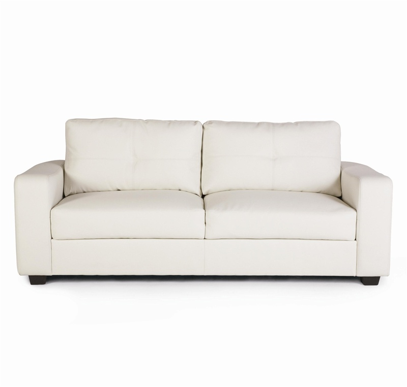 Jasmine Vibrant White Leather Loveseat