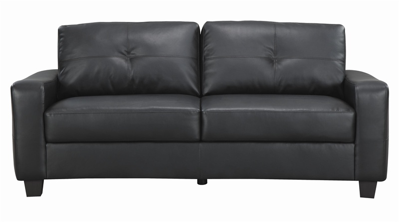 Jasmine Rich Black Leather Sofa by Coaster - 502721