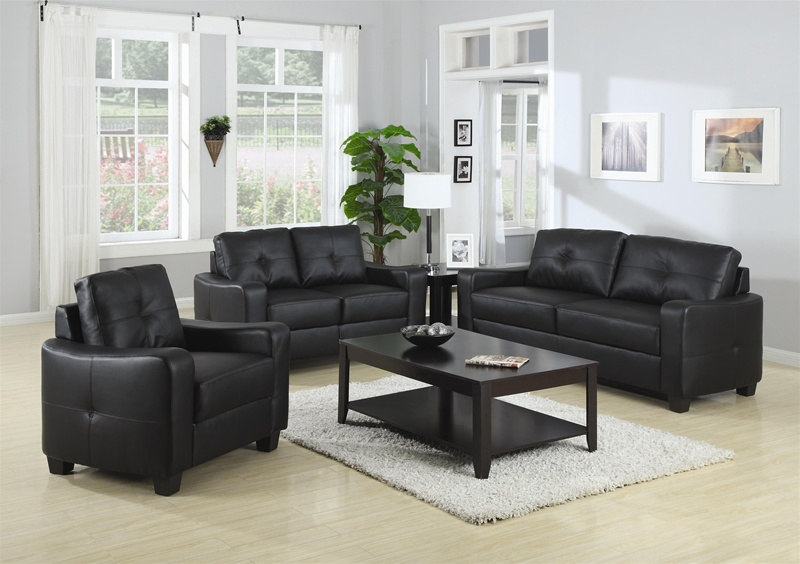 sofa loveseat set cheap sets under 300 jasmine rich black leather piece coaster and clearance