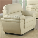 Fenmore Chair in Cream Leather Like Fabric by Coaster - 503073