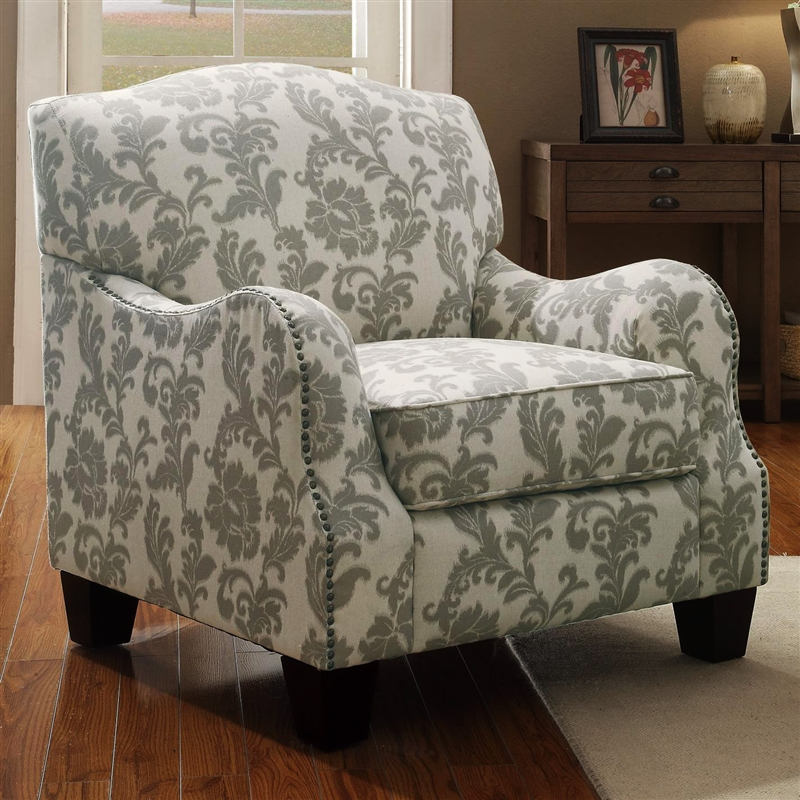 Accent Chair In Floral Pattern Fabric By Coaster 503253
