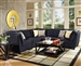Keaton 5 Piece Sectional in Midnight Fabric by Coaster - 503451
