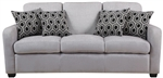 Charlotte Sofa in Grey Chenille by Coaster - 504031