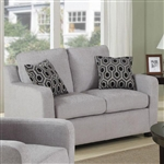 Charlotte Loveseat in Grey Chenille by Coaster - 504032