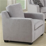 Charlotte Chair in Grey Chenille by Coaster - 504033