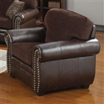 Florence Chair in Tri-Tone Browns by Coaster - 504043