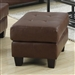 Samuel Ottoman in Dark Brown Leather by Coaster - 504074