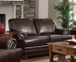 Colton Loveseat in Brown Leatherette Upholstery by Coaster - 504412