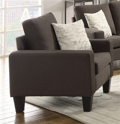 Bachman Chair in Grey Linen Like Fabric by Coaster - 504766