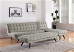 Natalia Sofa Bed in Dove Grey Chenille Upholstery by Coaster - 505608